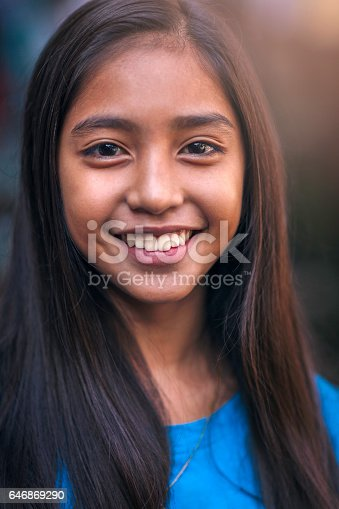 istock Portrait of a happy teenager 646869290