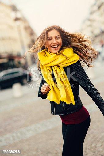 istock Portrait of a happy woman 539986256