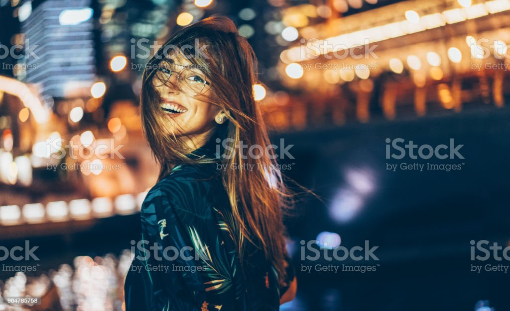 Portrait Of A Happy Woman royalty-free stock photo