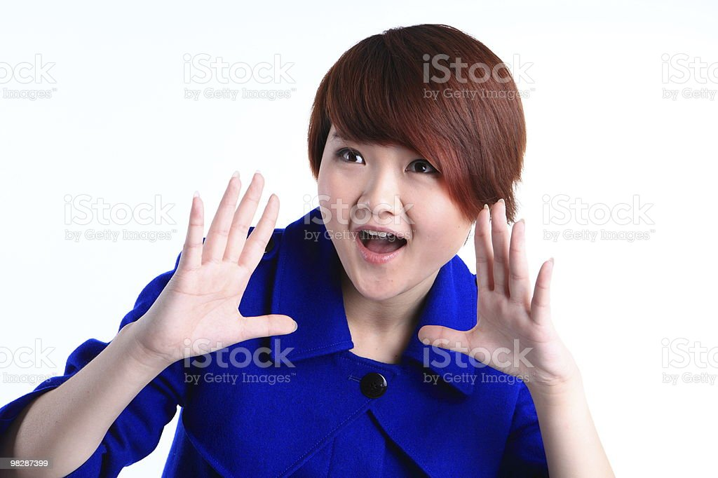 Portrait of a happy young businesswoman royalty-free stock photo