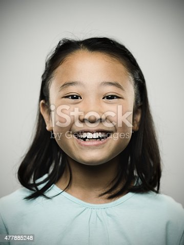 istock Portrait of a happy young japanese girl looking at camera. 477885248