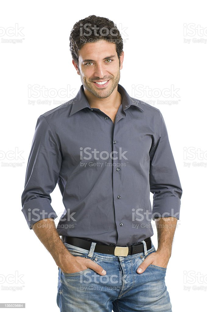 A portrait of a happy young man royalty-free stock photo