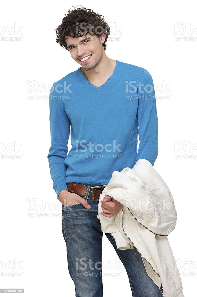 Portrait of a Happy Young Man royalty-free stock photo