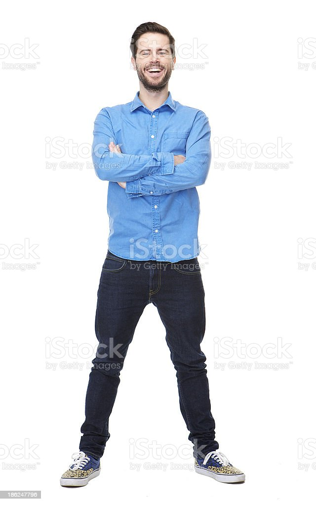 Portrait of a happy young man stock photo