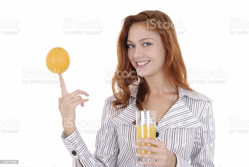 Portrait of a happy young pretty woman royalty-free stock photo