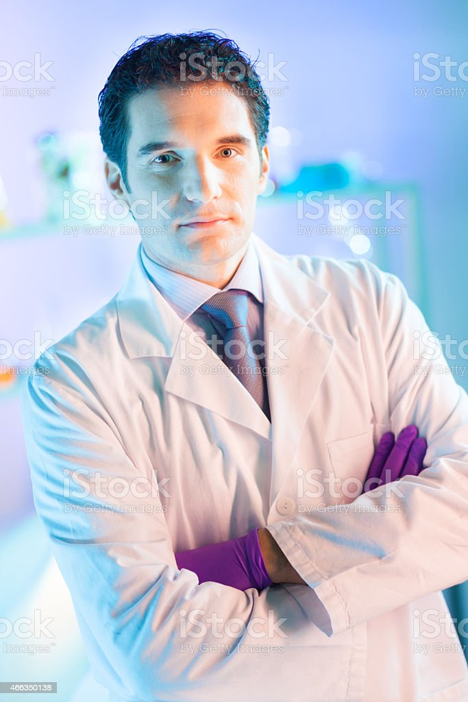Portrait of a helth care professional. stock photo