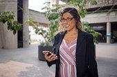 istock Portrait of a hispanic businesswoman 1272451331