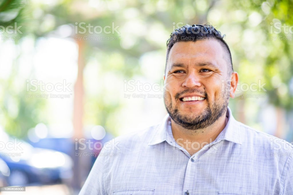 Portrait of a hispanic man stock photo