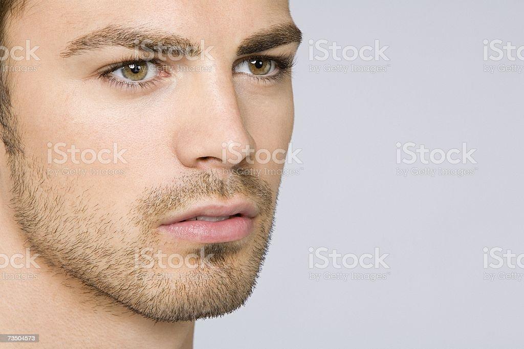 Retrato de un hombre joven hispana foto de stock libre de derechos