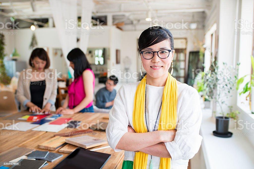 Portrait of a interior designer