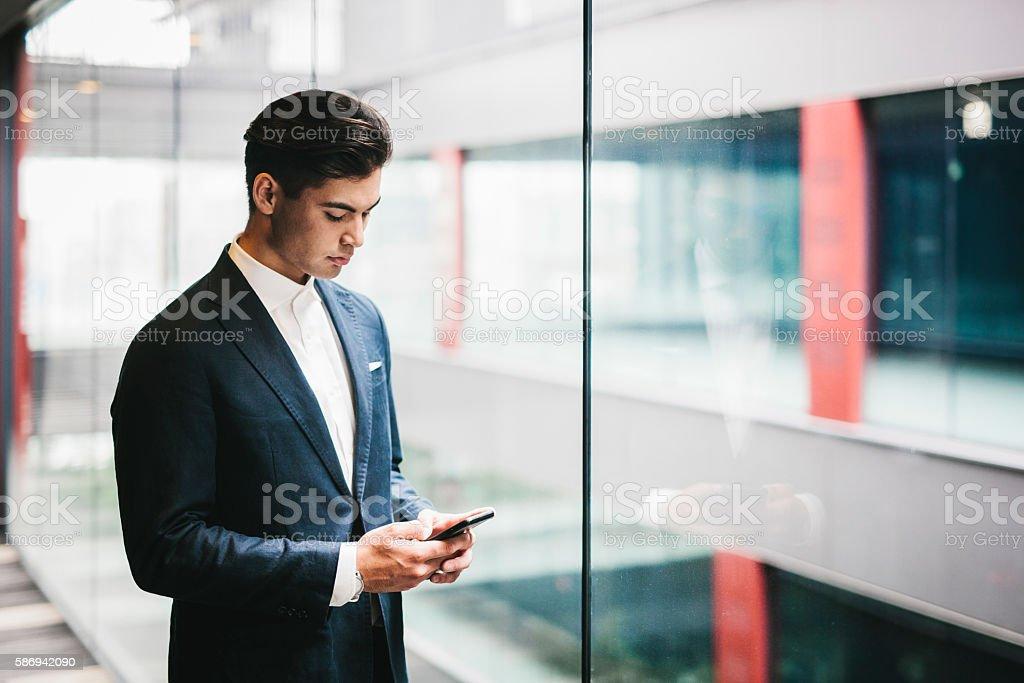 Portrait of a Japanese Businessman stock photo