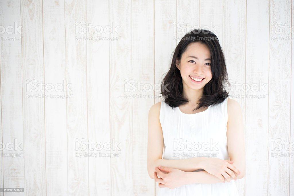 Retrato de uma mulher japonês - Foto de stock de Adulto royalty-free