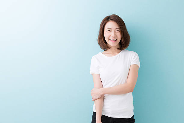 Portrait of a Japanese woman Portrait of a Japanese woman only japanese stock pictures, royalty-free photos & images