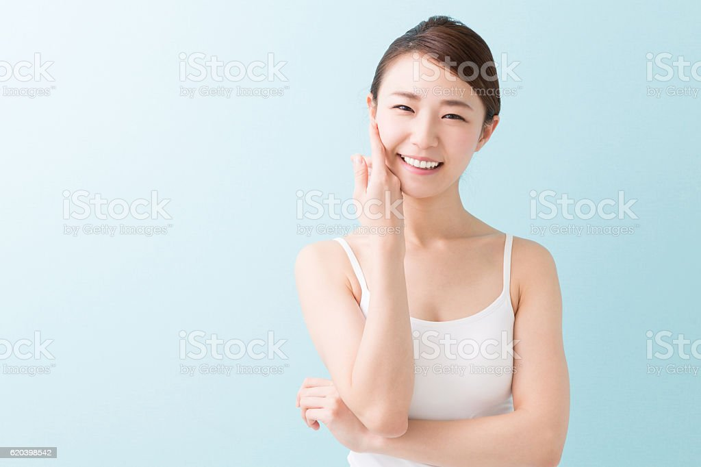 Portrait of a Japanese woman stock photo