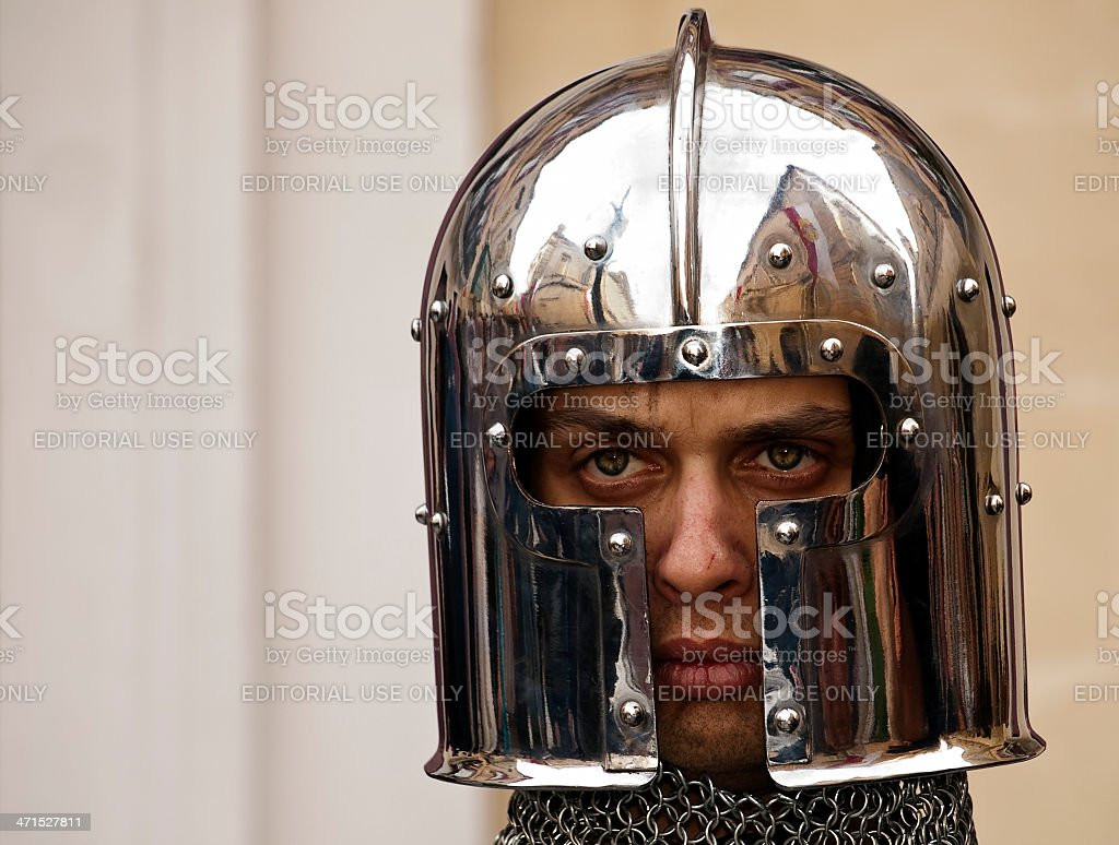 Portrait of a Knight royalty-free stock photo