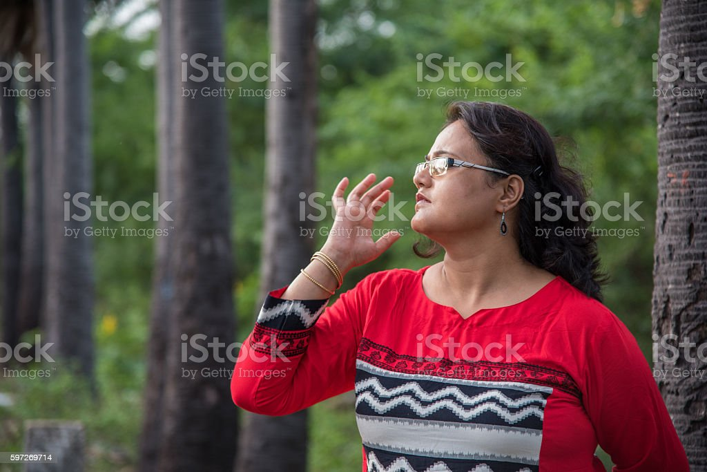 Portrait of a lady. royalty-free stock photo
