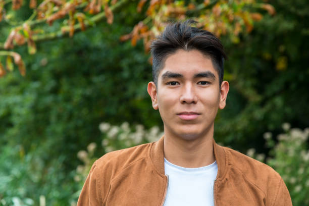 Portrait of a Latin American young man stock photo