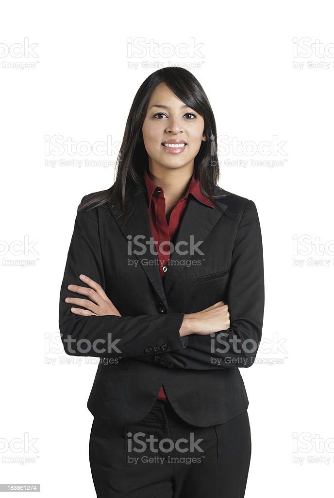 Portrait of a latin business woman royalty-free stock photo