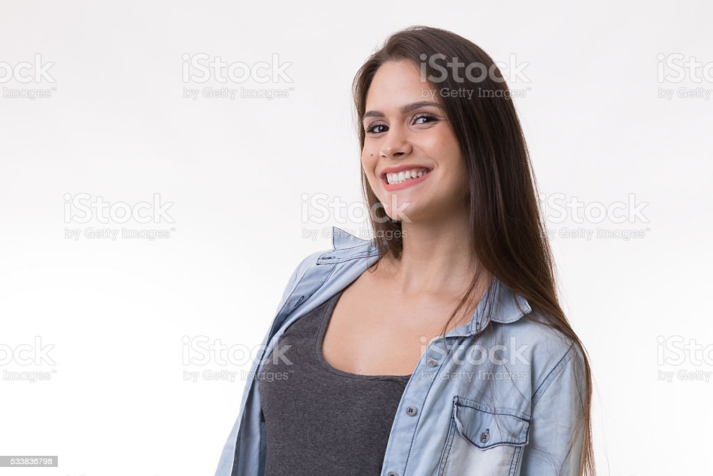 Portrait of a latina young woman stock photo