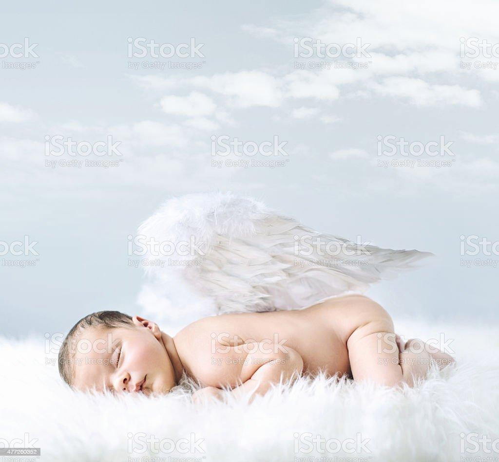 Portrait of a little baby como un ángel - foto de stock