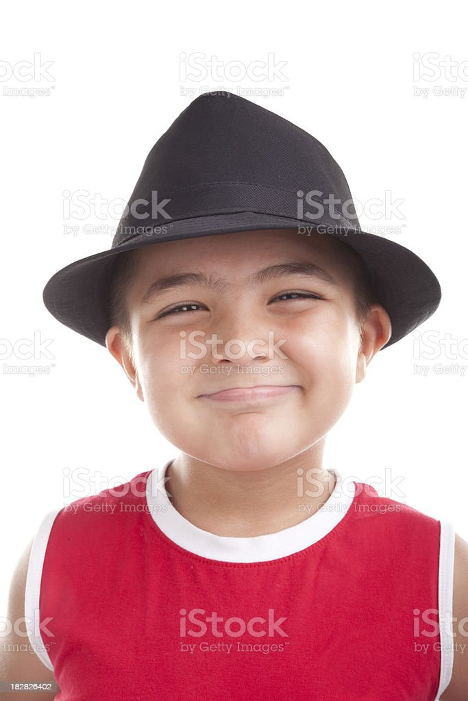 Portrait of a little boy stock photo