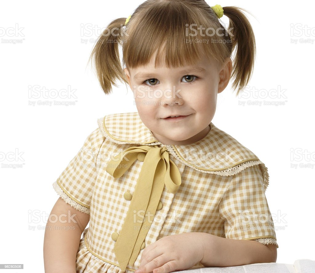Portrait of a little girl, back to school royalty-free stock photo