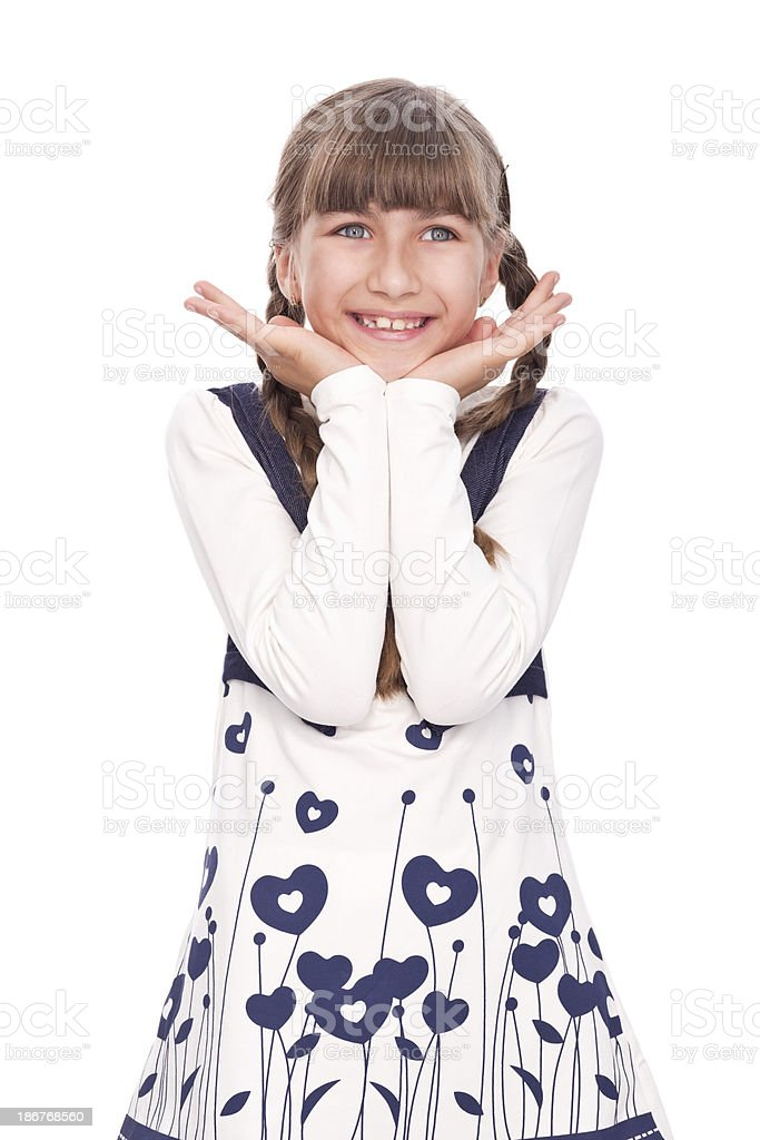 Portrait of a little girl stock photo