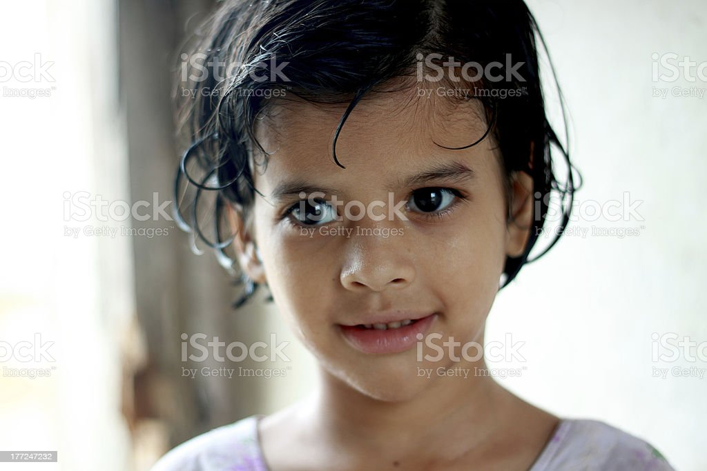 Portrait of a little Pathan girl. royalty-free stock photo