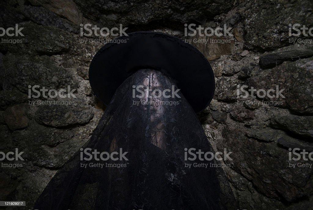portrait einer kleinen Hexe royalty-free stock photo
