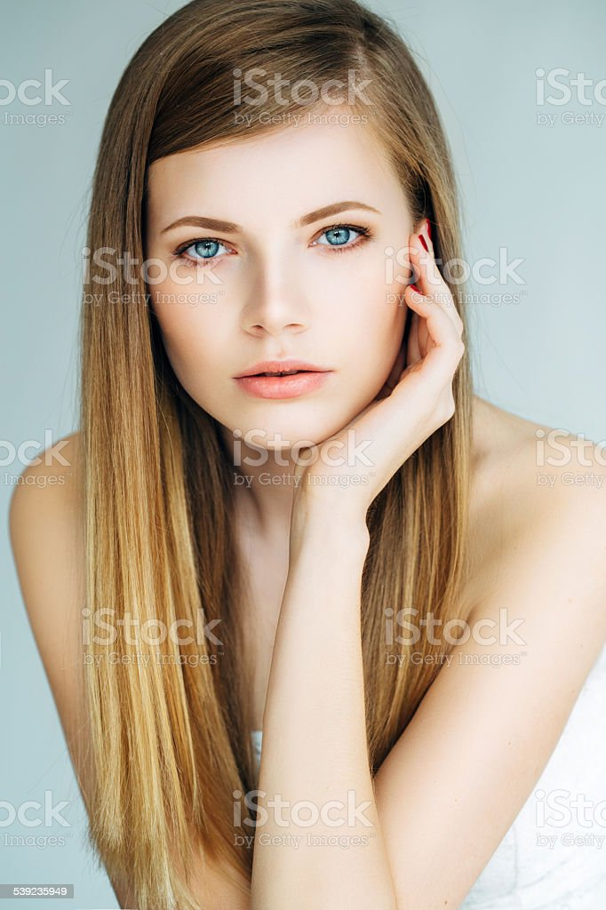 Portrait of a lovely woman royalty-free stock photo