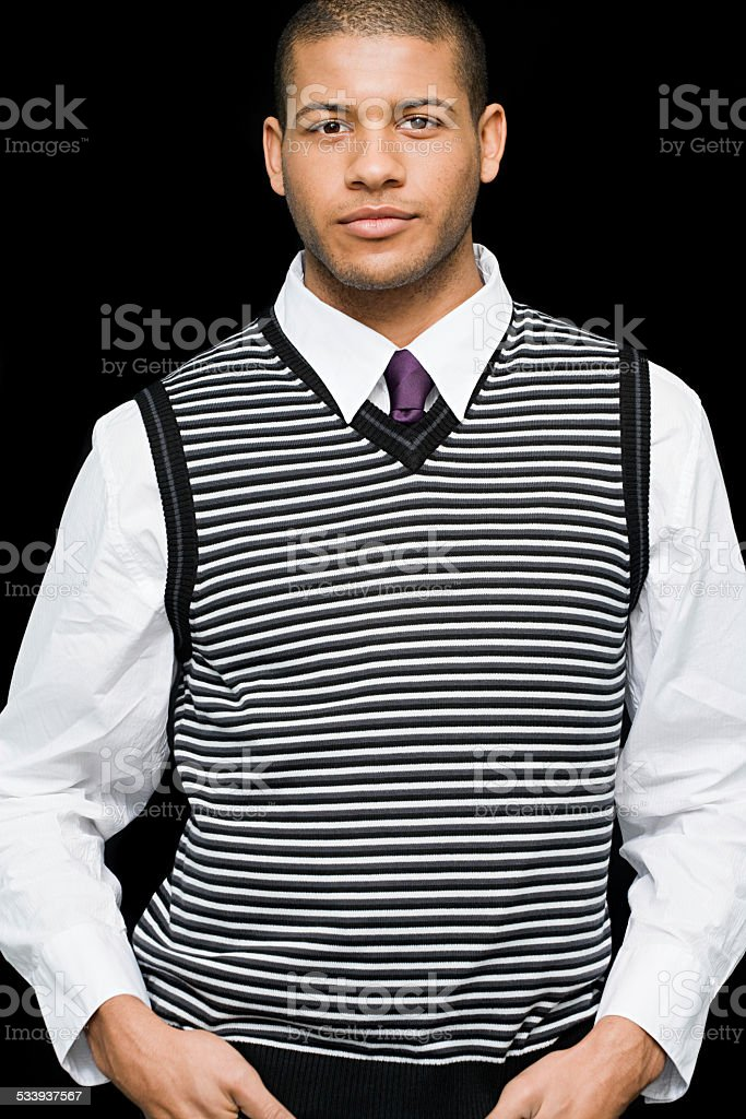 Portrait of a male office worker stock photo