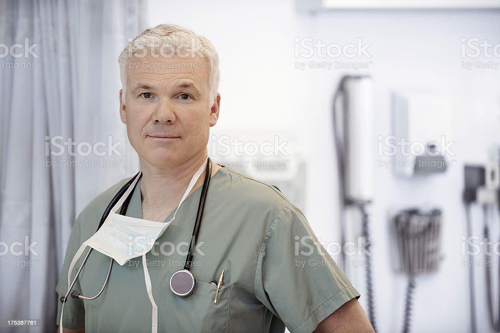 Portrait of a male surgeon. stock photo