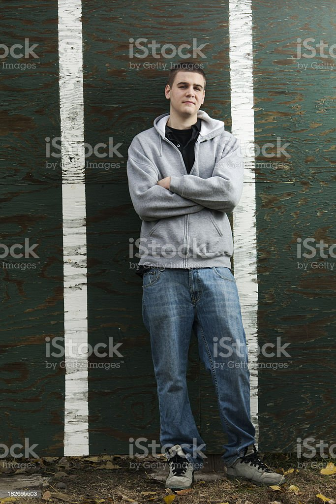 Portrait of a Male Teenager royalty-free stock photo