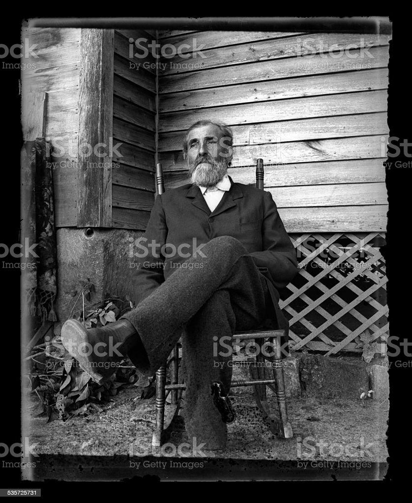 Portrait of a Man, Circa 1890 stock photo