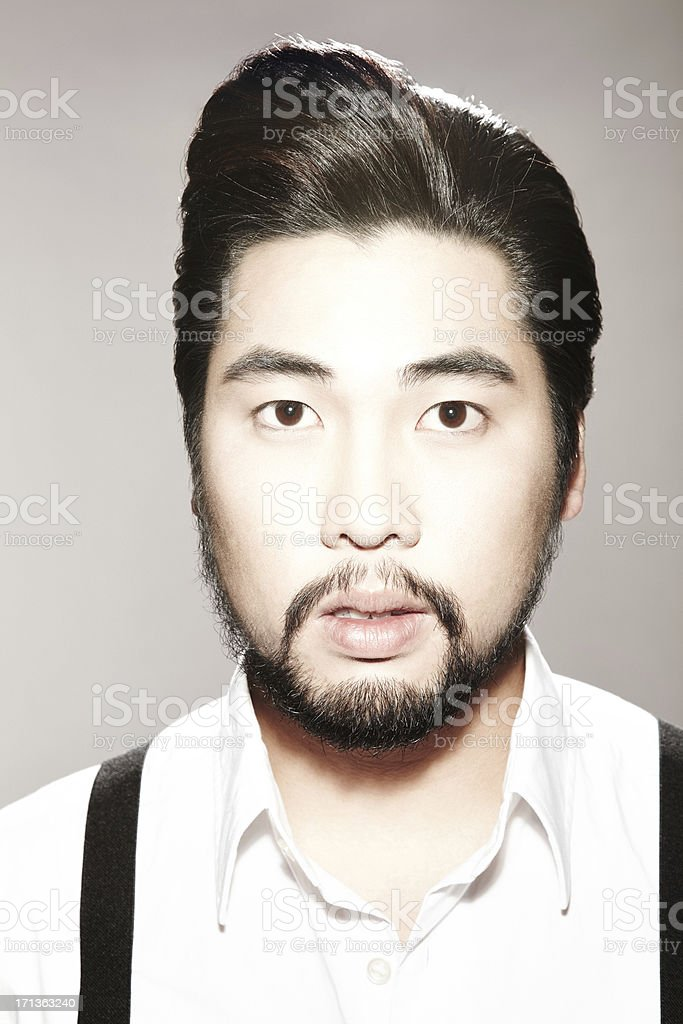 Portrait of a man looking at camera stock photo