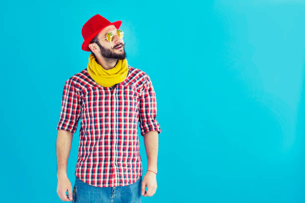 portrait of a man - saturated color stock pictures, royalty-free photos & images