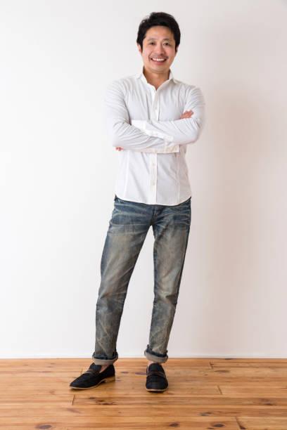 男性のポートレイト - 全身 ストックフォトと画像