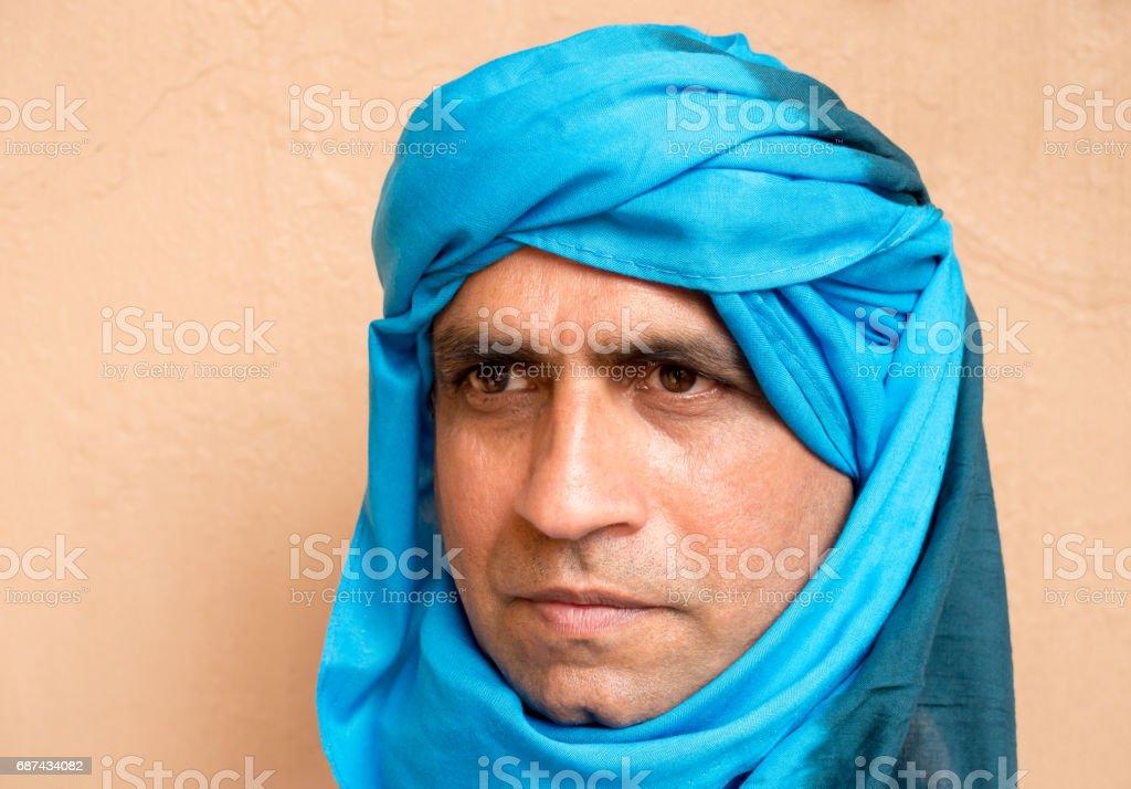 Portrait of a man wearing a Touareg Turban – zdjęcie