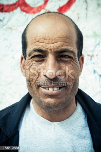Portrait of a Tunisian man.