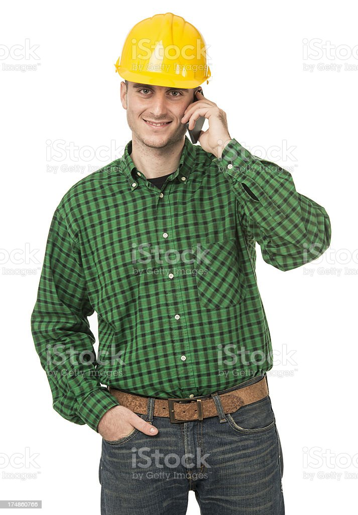 Portrait of a  Manual worker with helmet royalty-free stock photo