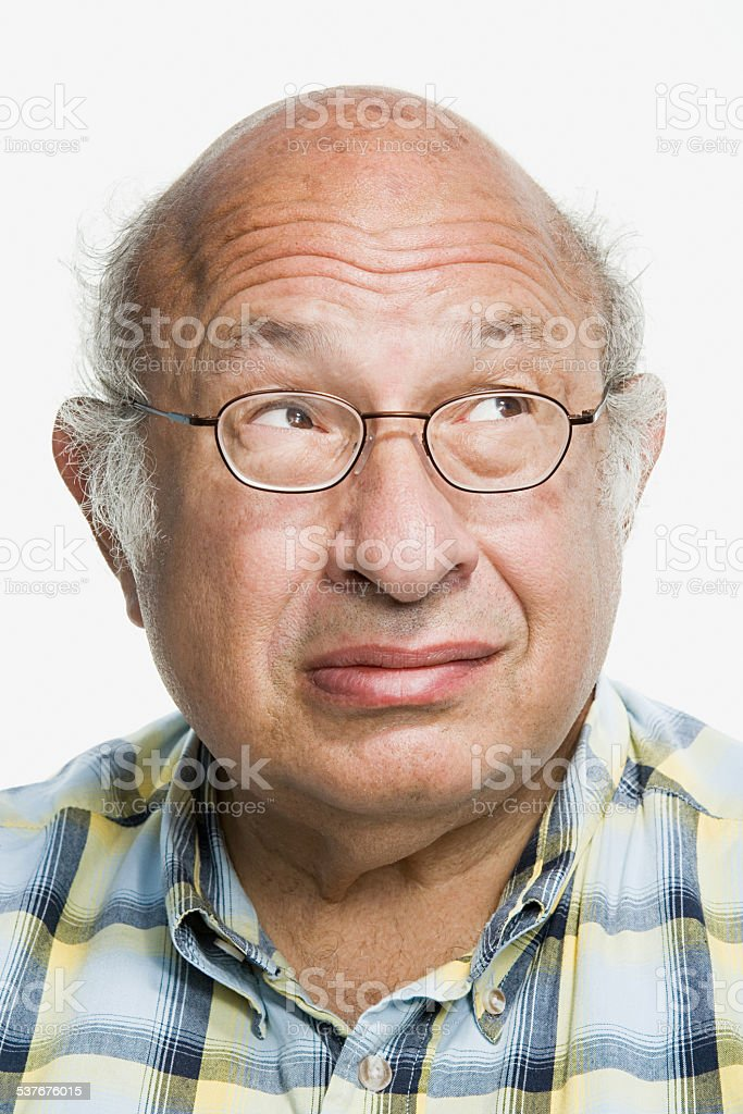 Portrait of a mature adult man stock photo