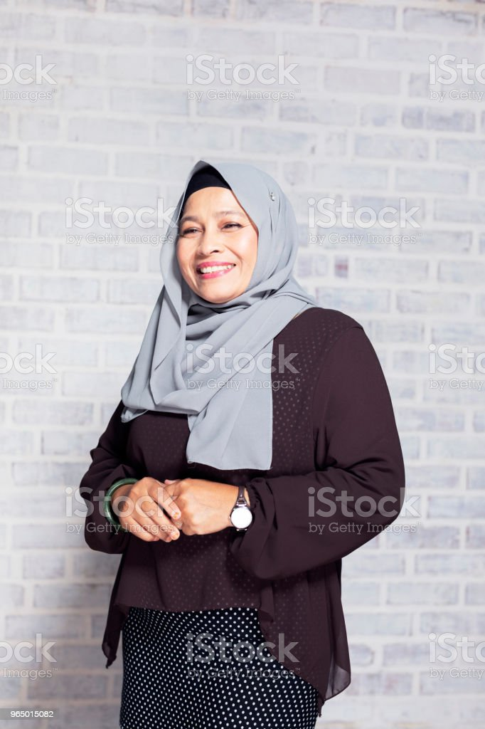 Portrait of a Mature Malaysian Woman stock photo