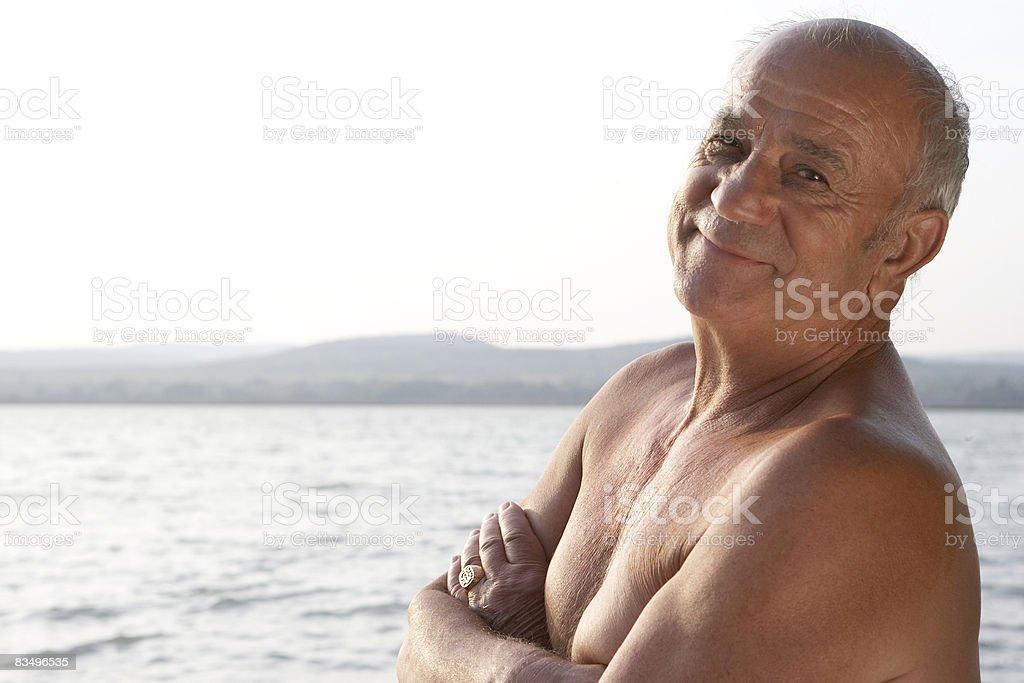 portrait d'un homme d'âge mûr photo libre de droits