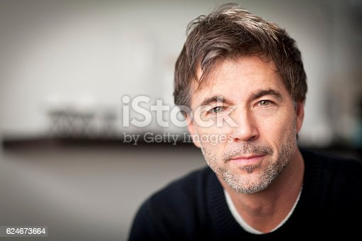 istock Portrait Of A Mature Man Smiling 624673664
