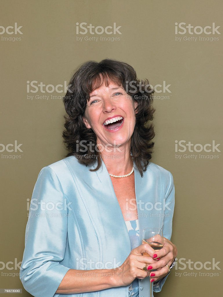 Portrait of a mature woman 免版稅 stock photo