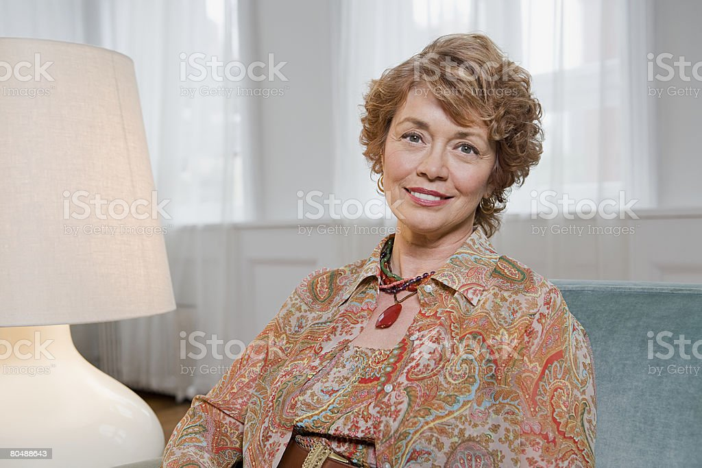 Portrait of a mature woman 免版稅 stock photo