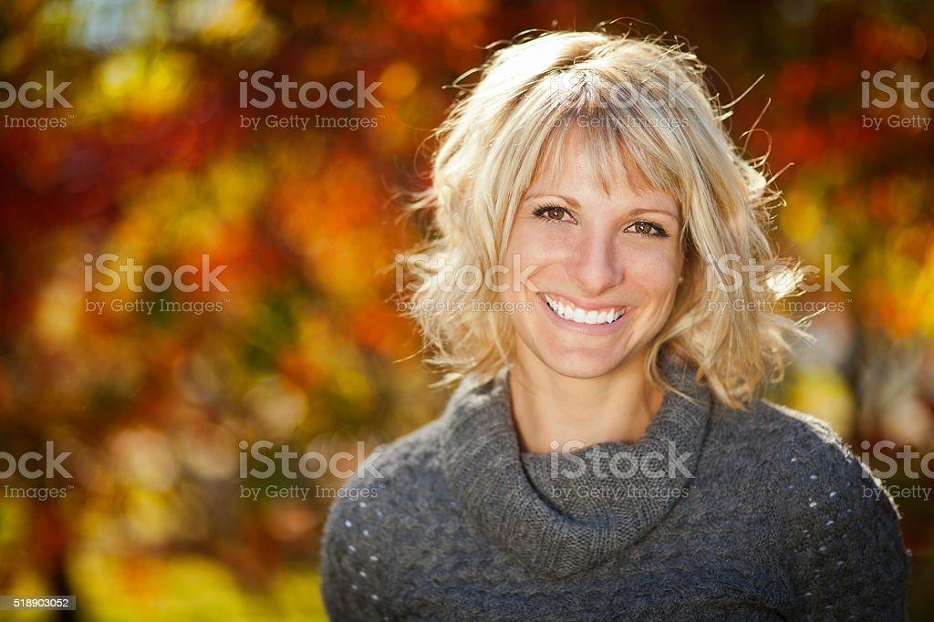 Portrait Of A Mature Woman Smiling stock photo