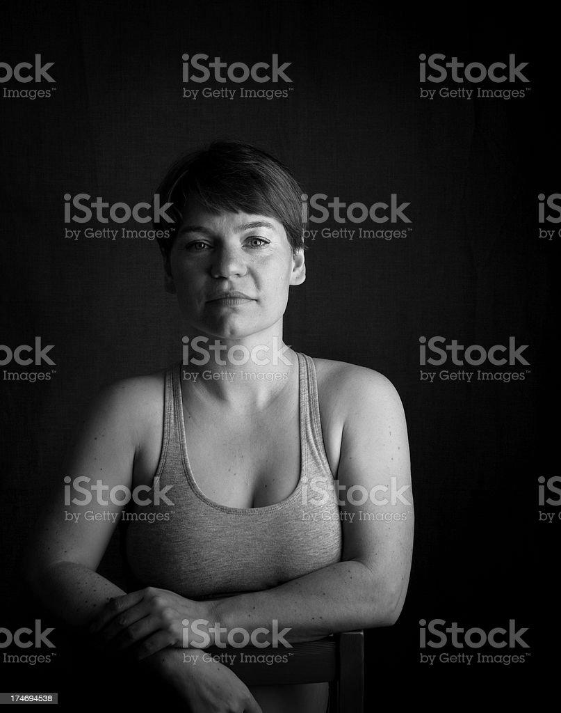 Porträt eines abgehangen Frau – Foto