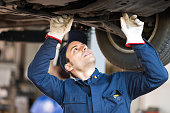 istock Portrait of a mechanic checking the car condition 486899184