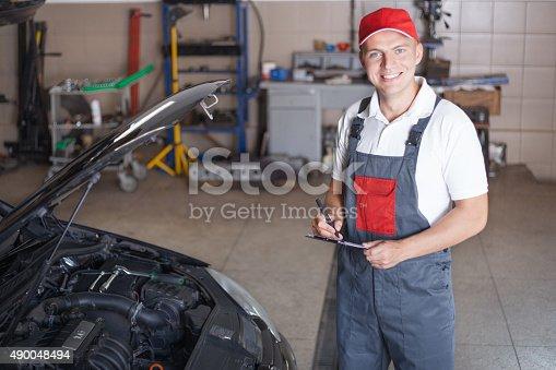 962888586 istock photo Portrait of a mechanic 490048494
